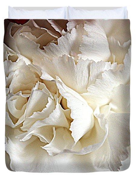 Duvet Cover featuring the photograph Crisp Carnation Photo by Deniece Platt