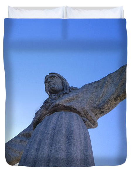 Cristo Rei Duvet Cover by Anonymous