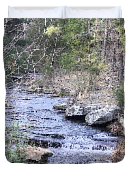 Duvet Cover featuring the photograph Crooked Creek by Donna G Smith