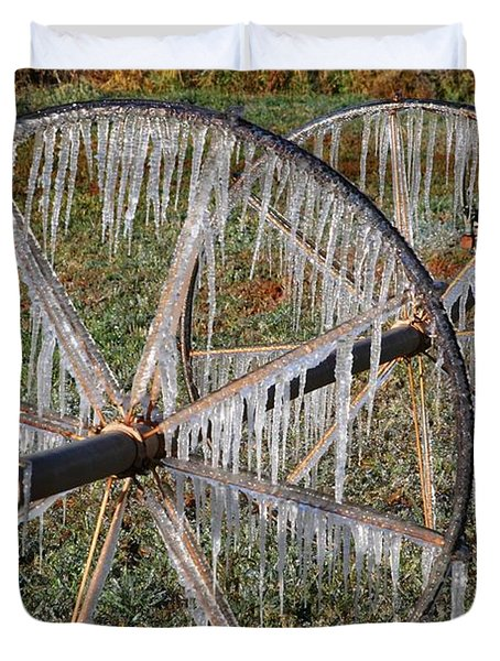 Crops Of Ice #2 Duvet Cover by Nola Lee Kelsey