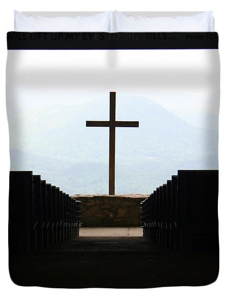 Cross 1 Duvet Cover by Kelly Hazel