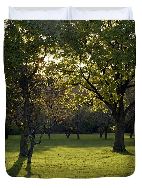 Cross In The Trees Duvet Cover by John Bowers
