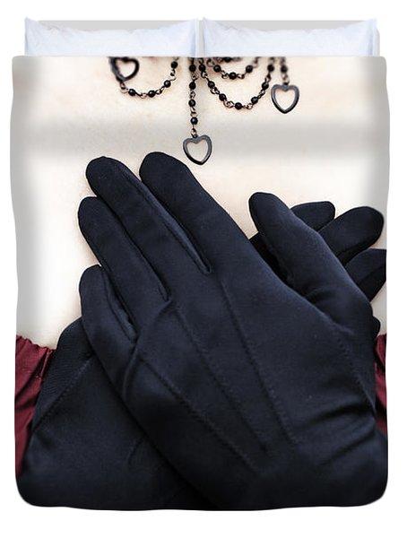 Crossed Hands Duvet Cover by Joana Kruse