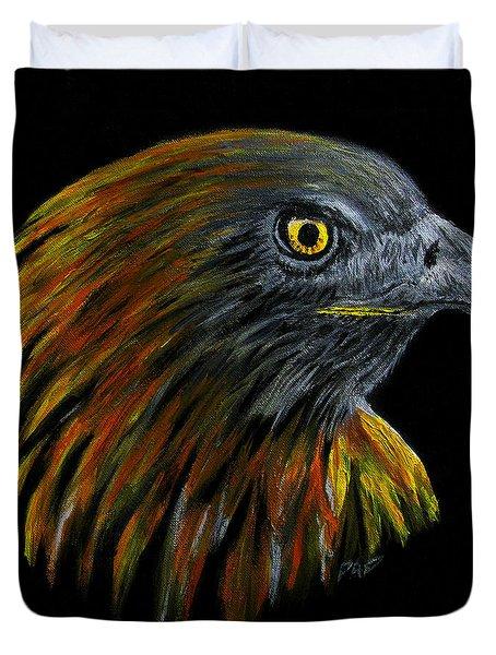 Crowhawk Duvet Cover by Peter Piatt