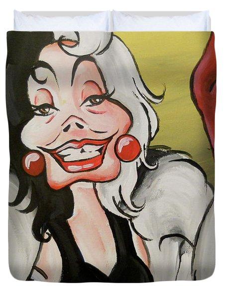 Cruella Duvet Cover by Lisa Leeman