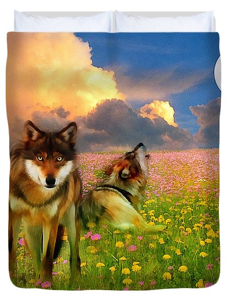 Cry At The Moon Duvet Cover