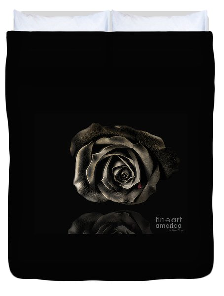 Crying Black Rose Duvet Cover by Danuta Bennett