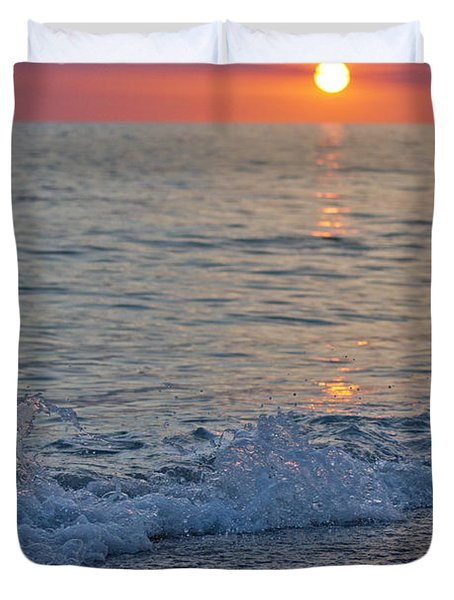 Crystal Blue Waters At Sunset In Treasure Island Florida 2 Duvet Cover by Robin Lewis