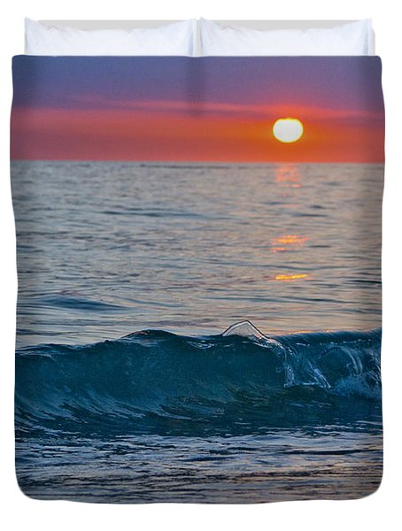 Crystal Blue Waters At Sunset In Treasure Island Florida 3 Duvet Cover by Robin Lewis
