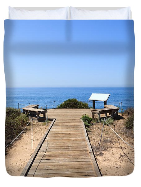 Crystal Cove State Park Ocean Overlook Duvet Cover by Paul Velgos