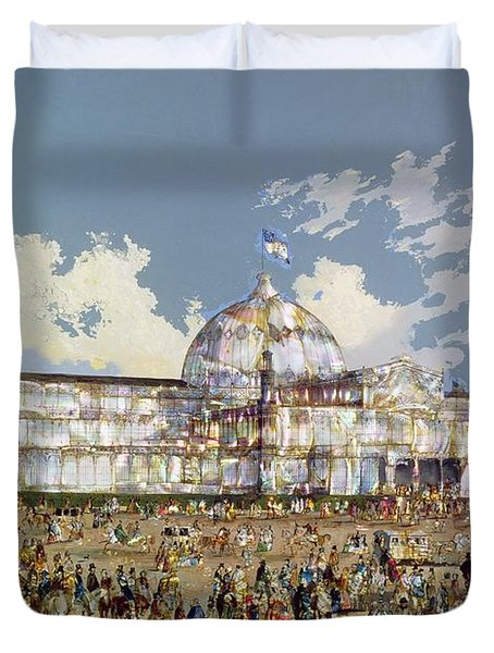 Crystal Palace New York Duvet Cover by WS Parkes