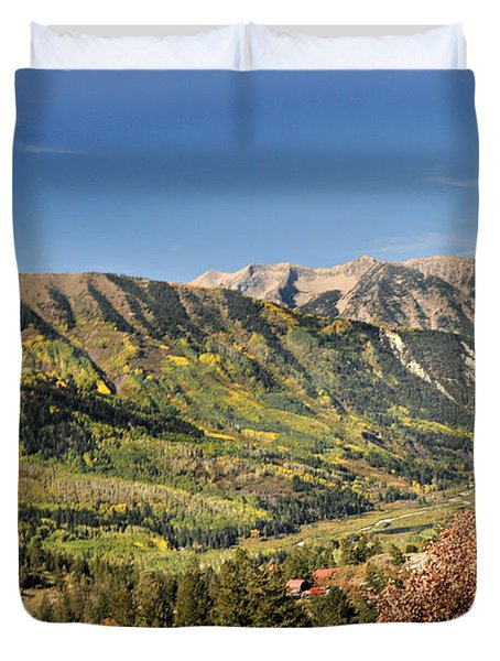 Crystal Valley Duvet Cover by Marty Koch