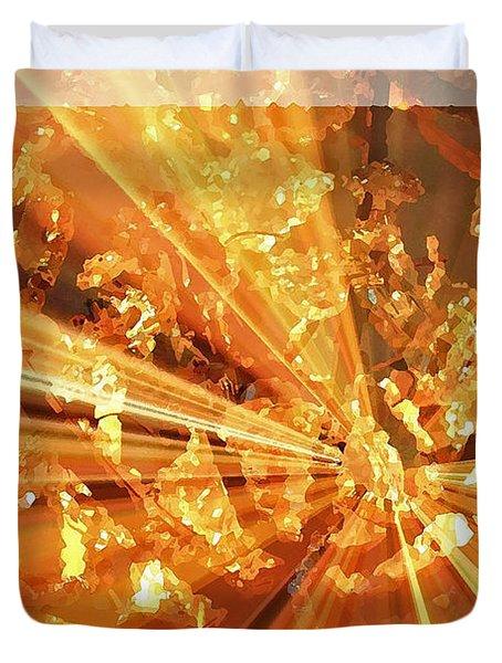 Crystallized - Digital Art Abstract Duvet Cover