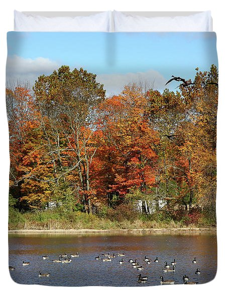 Ct Autumn Colors Duvet Cover