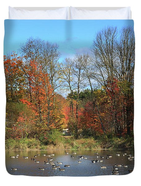 Ct Autumn Lake. Duvet Cover