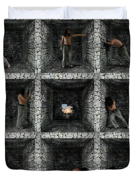 Duvet Cover featuring the photograph Cube  by Mariusz Zawadzki