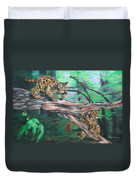Cubs At Play Duvet Cover