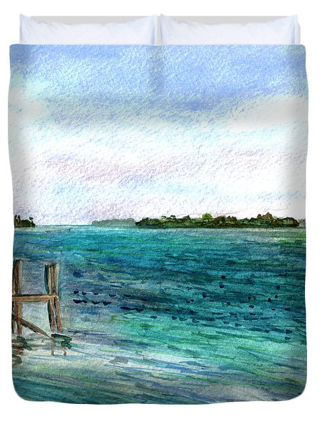 Cudjoe Bay Duvet Cover