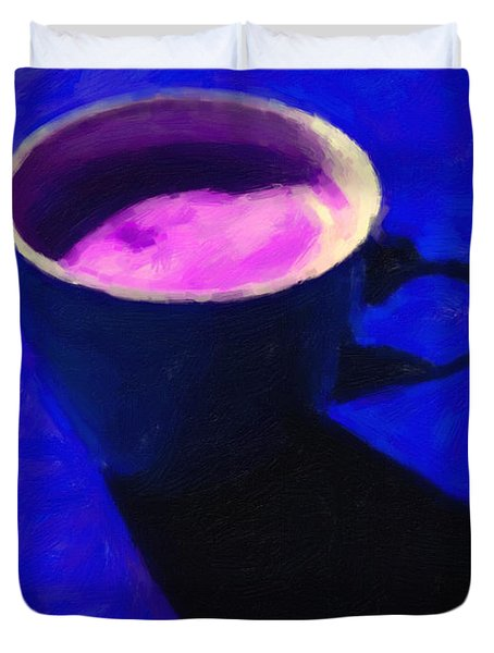 Cuppa Joe - Blue Duvet Cover