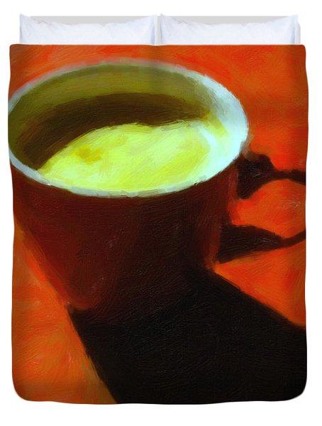 Cuppa Joe - Orange Duvet Cover