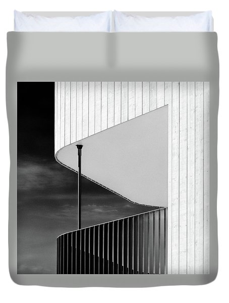 Curved Balcony Duvet Cover