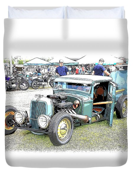 Custom 32 Ford Pickup Duvet Cover by Steve McKinzie
