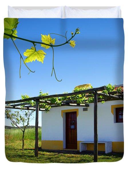 Cute House Duvet Cover by Carlos Caetano