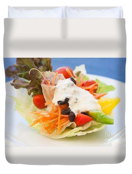 Cute Salad Duvet Cover by Atiketta Sangasaeng