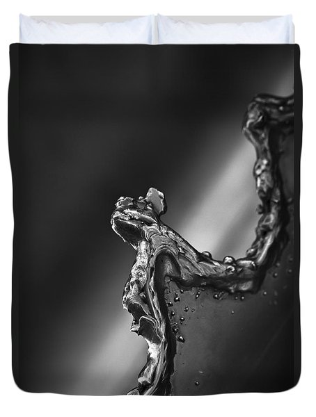 Duvet Cover featuring the photograph Cutting Edge Sibelius Monument by Clare Bambers