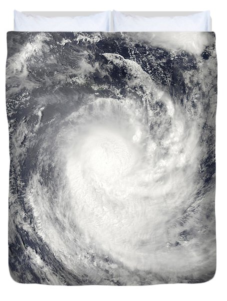 Cyclone Rene Over The South Pacific Duvet Cover