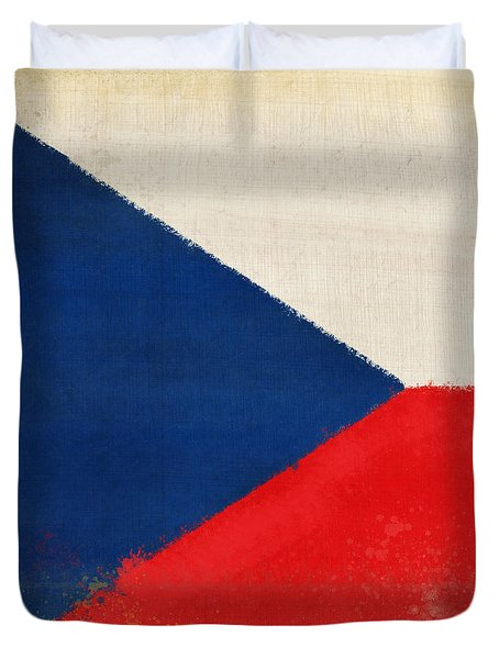 Czech Republic Flag Duvet Cover by Setsiri Silapasuwanchai