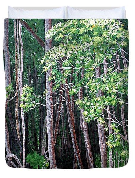 Daintree Forest At Twilight Duvet Cover by Tatjana Popovska