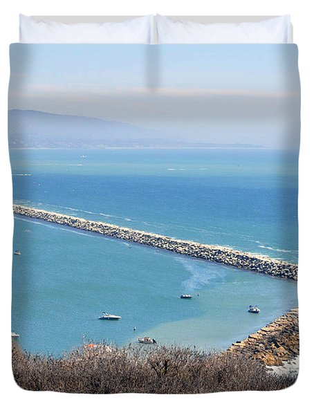 Duvet Cover featuring the photograph Dana Point California 9-1-12 by Clayton Bruster