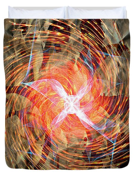 Dance Of Fires  Duvet Cover by Jerry Cordeiro