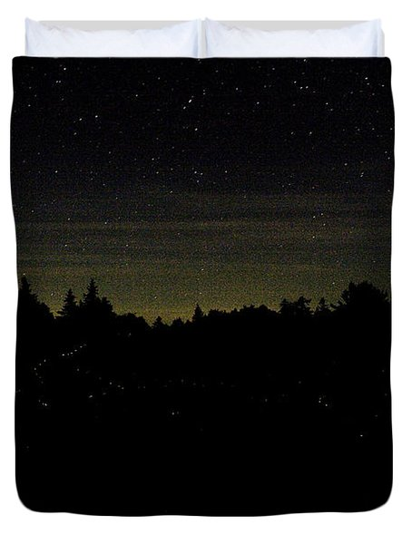 Duvet Cover featuring the photograph Dancing Fireflies by Brent L Ander