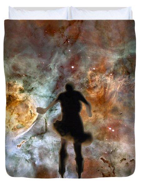 Dancing Nebula Duvet Cover