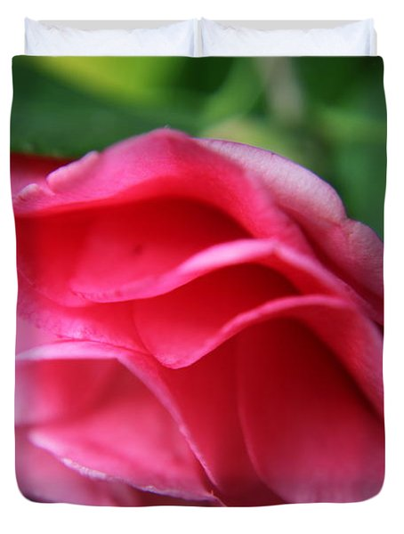 Dancing Petals Of The Camellia Duvet Cover
