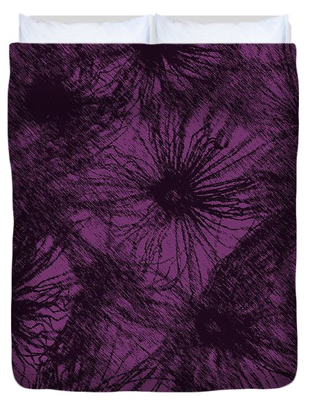 Dandelion Abstract Duvet Cover by Ernie Echols