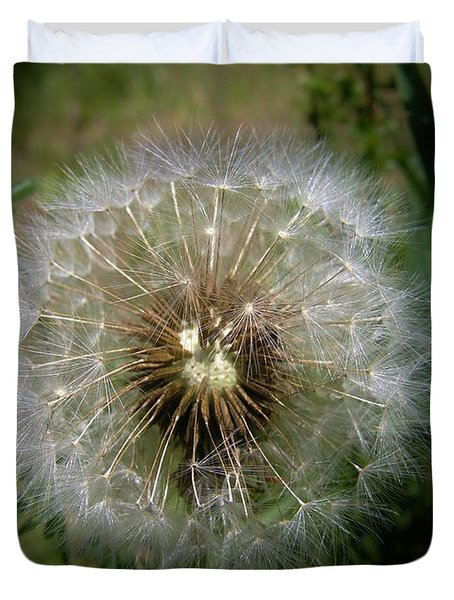 Duvet Cover featuring the photograph Dandelion Going To Seed by Sherman Perry