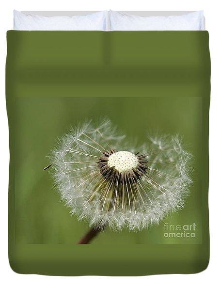 Dandelion Half Gone Duvet Cover by Teresa Zieba