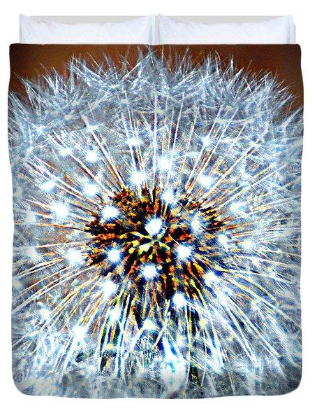 Dandelion Seed Duvet Cover by Marty Koch