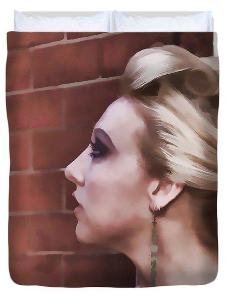 Dangling Earring Duvet Cover by Alice Gipson