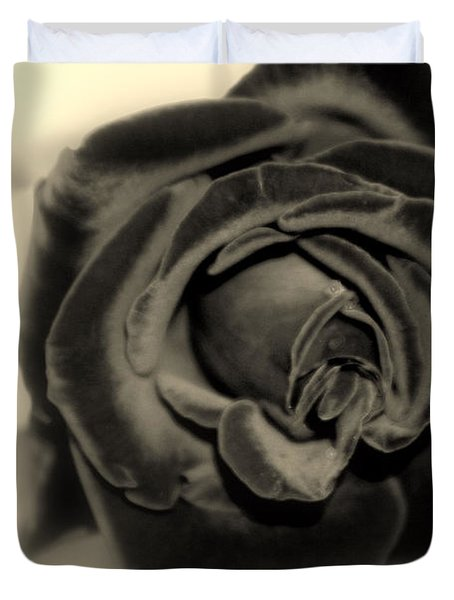 Duvet Cover featuring the photograph Dark Beauty by Kay Novy