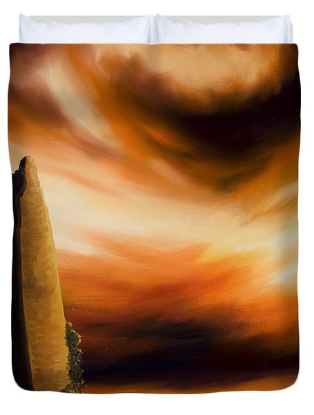 Dark Columns Duvet Cover by James Christopher Hill