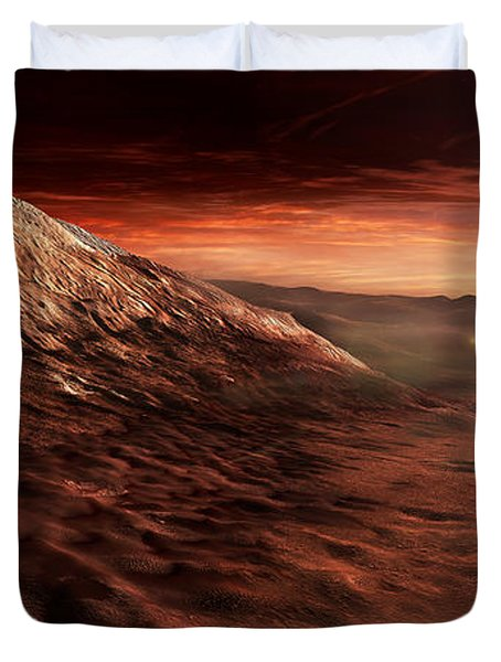 Dark Dunes March Along The Floor Duvet Cover by Steven Hobbs