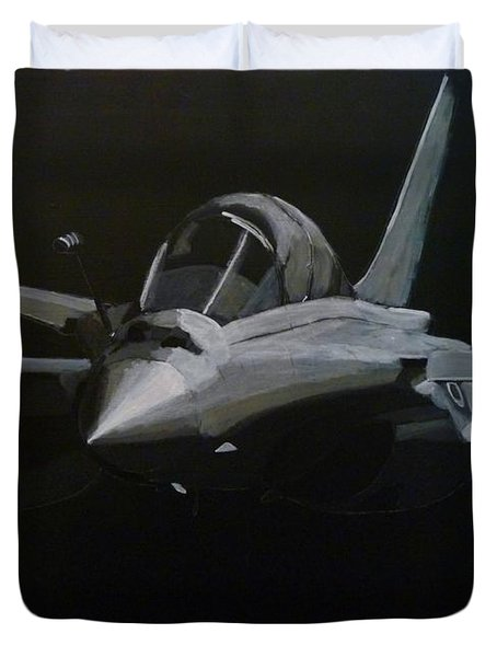 Duvet Cover featuring the painting Dassault Rafale by Richard Le Page
