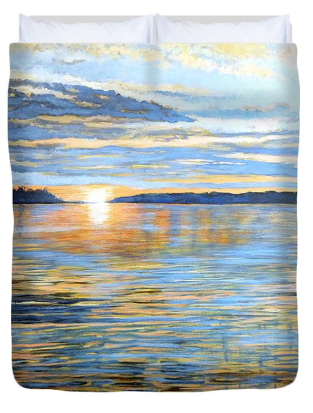 Duvet Cover featuring the painting Davidson Quebec by Tom Roderick