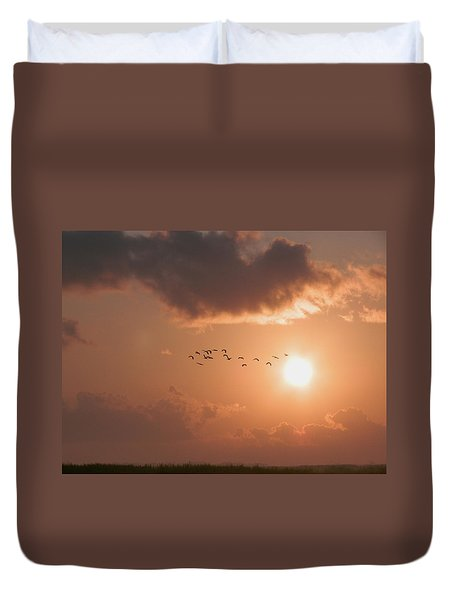 Dawn Flight Duvet Cover