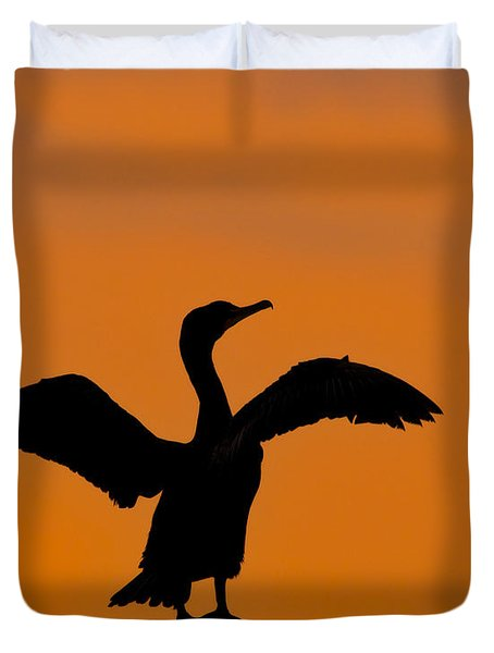Dawn Of A Double-crested Cormorant  Duvet Cover