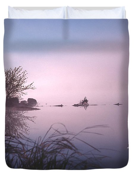 Dawn On The Chippewa River Duvet Cover